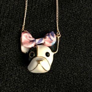 Betsey Johnson French Bulldog Necklace